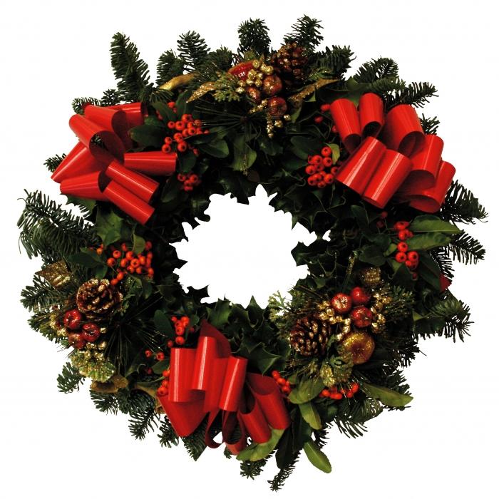 700x700 Holly Wreath Holly Wreath Free Download Clip Art Free Clip Art