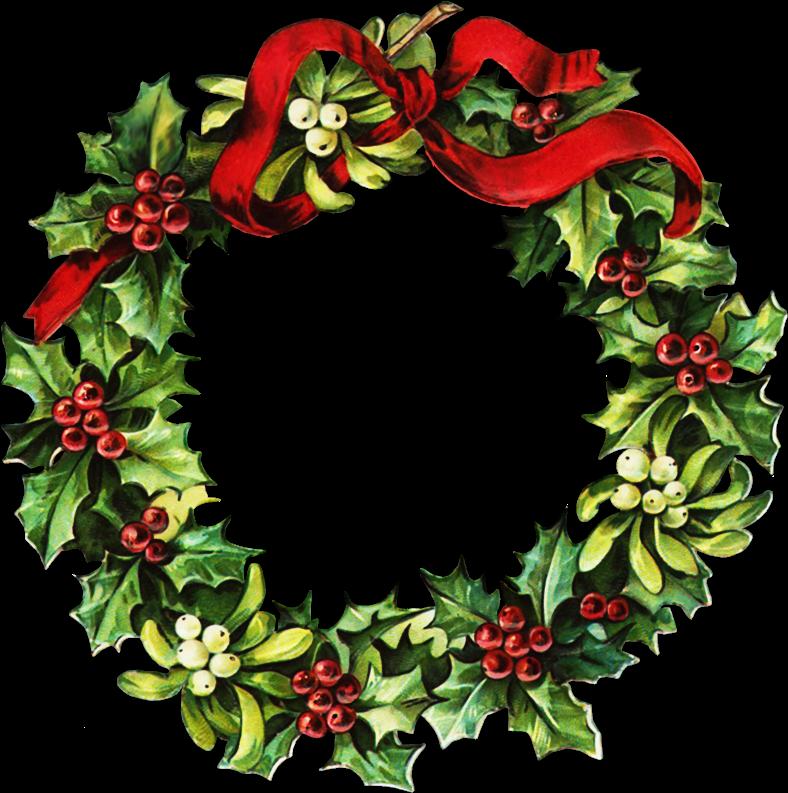788x793 Christmas Wreath Clip Art Wreaths Wreaths, Clip