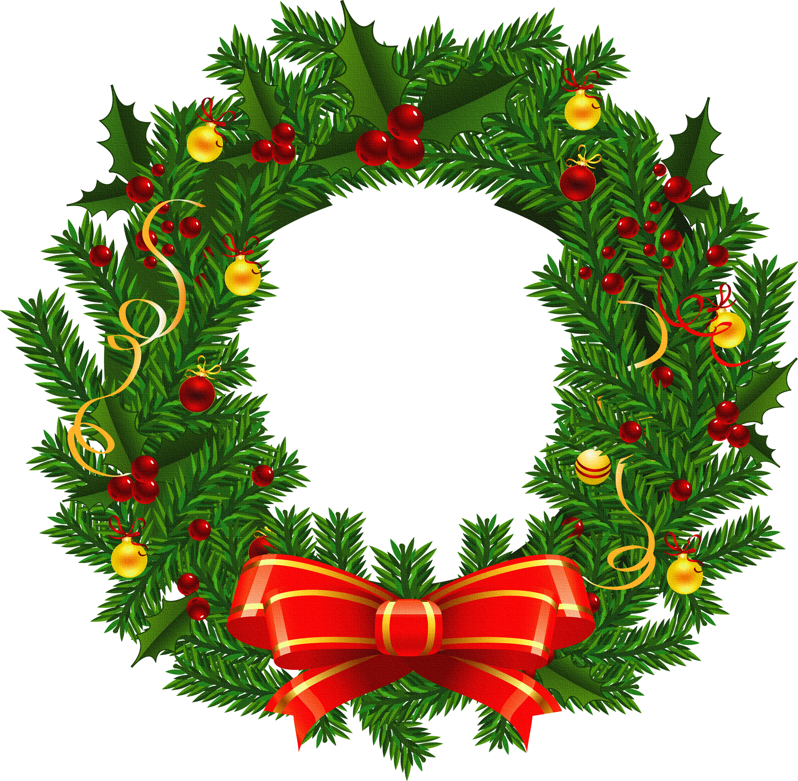 2700x2642 Christmas Wreath Clip Art Free Vector Download 214 390 Reef