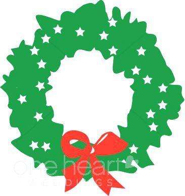 366x388 Christmas Wreath Clipart Free Christmas Wreath Border Clip Art