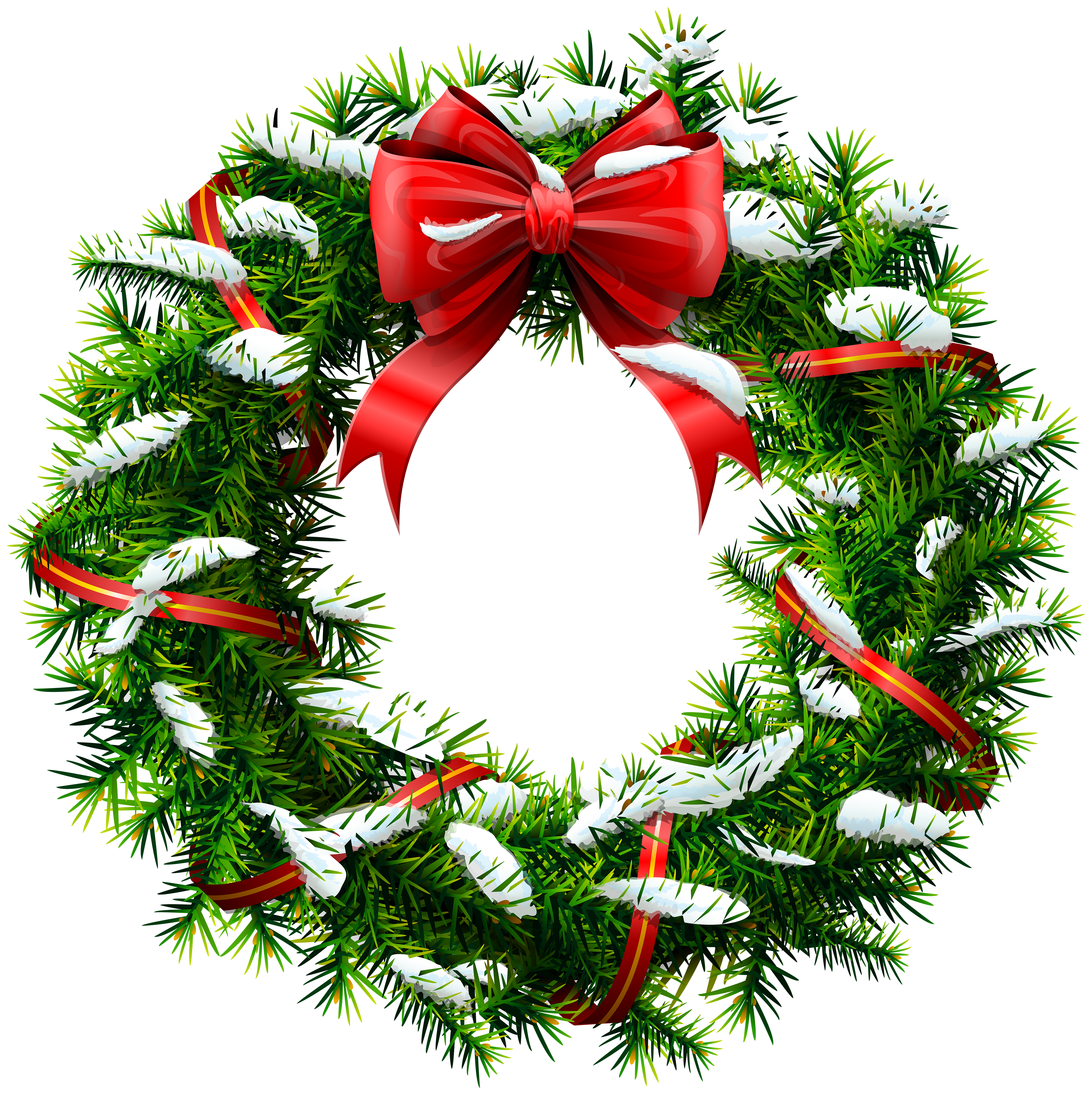 3990x4000 Christmas Wreath With Snow Png Clip Artu200b Gallery Yopriceville