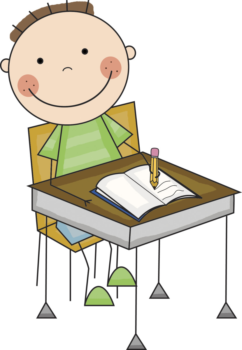 830x1199 Student Writing Clipart Girl Student Working Clipart Clip Art