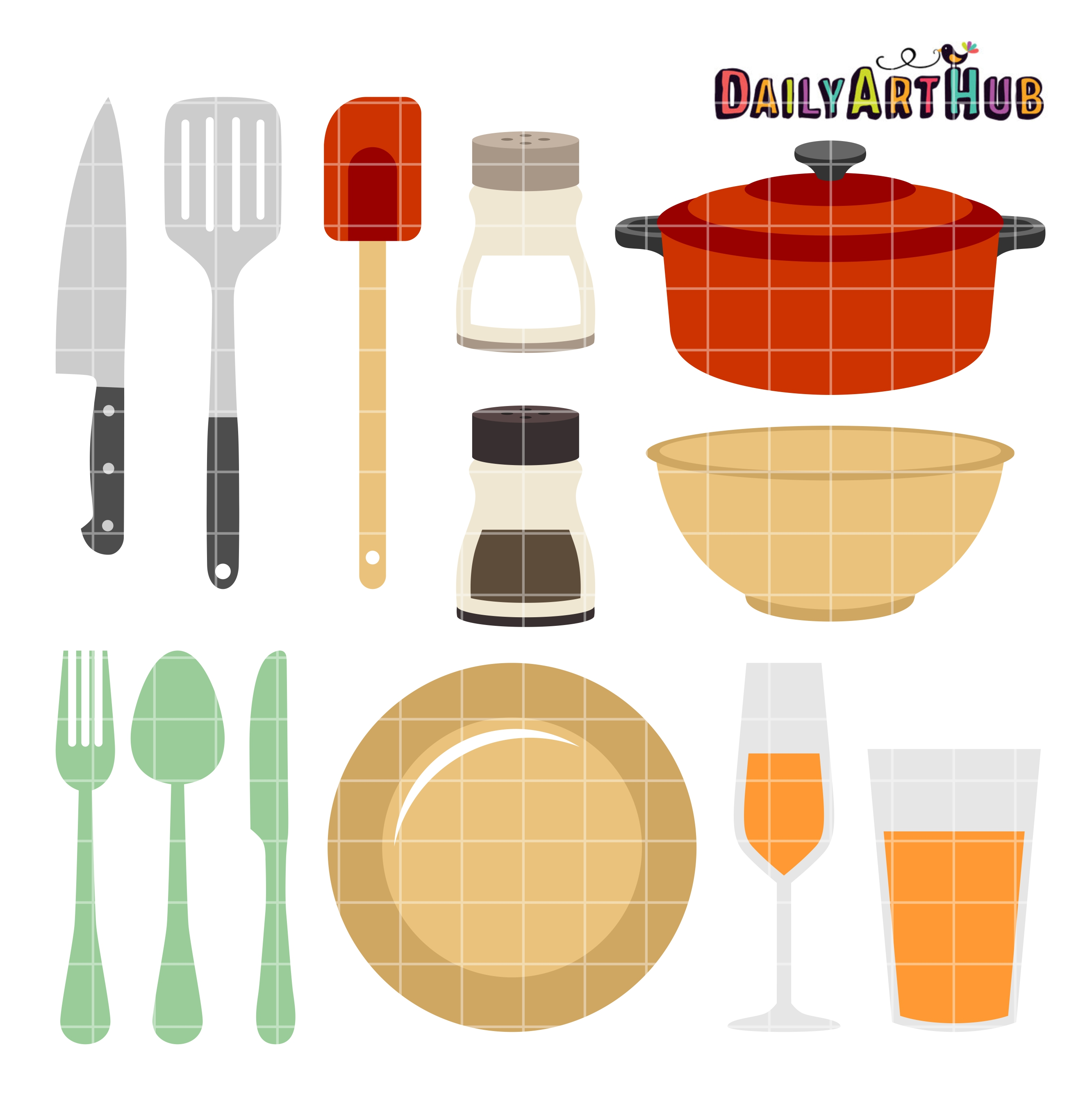 2664x2670 Kitchen Things Clip Art Set Daily Art Hub Free Clip Art Everyday