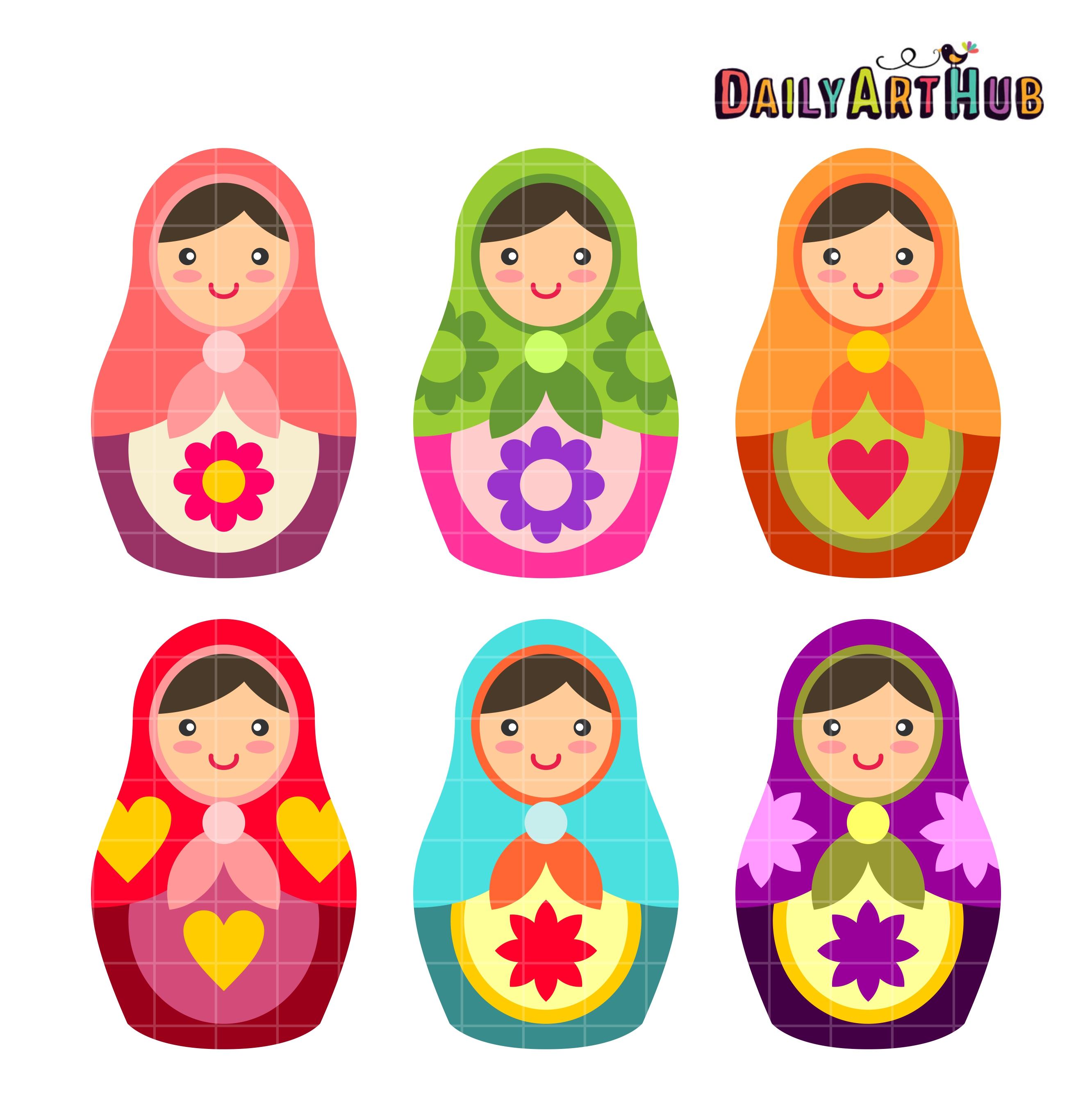 2664x2670 Babushka Dolls Clip Art Set Daily Art Hub Free Clip Art Everyday
