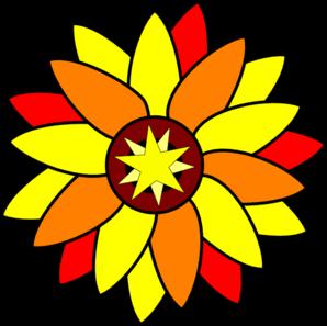 298x297 Sunflower Star Tatto Clip Art