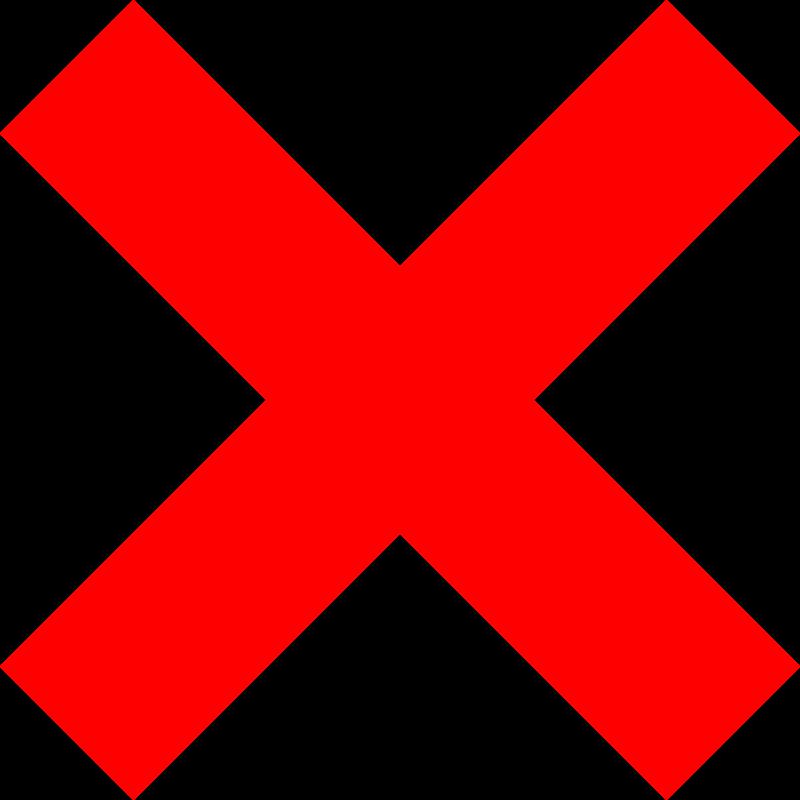 800x800 Free Clipart X Icon Milker