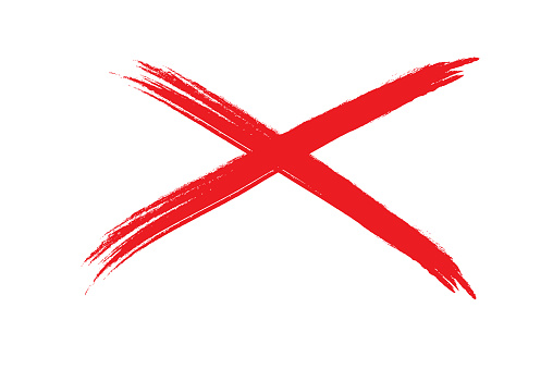 508x339 Red X Clipart
