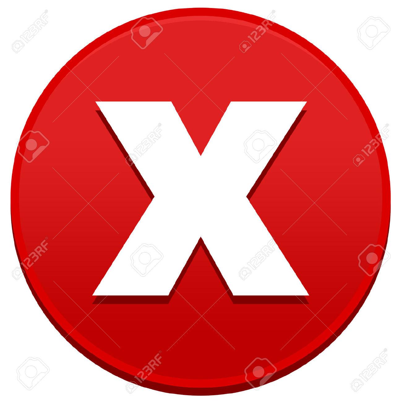 1300x1300 Big Red X Clip Art