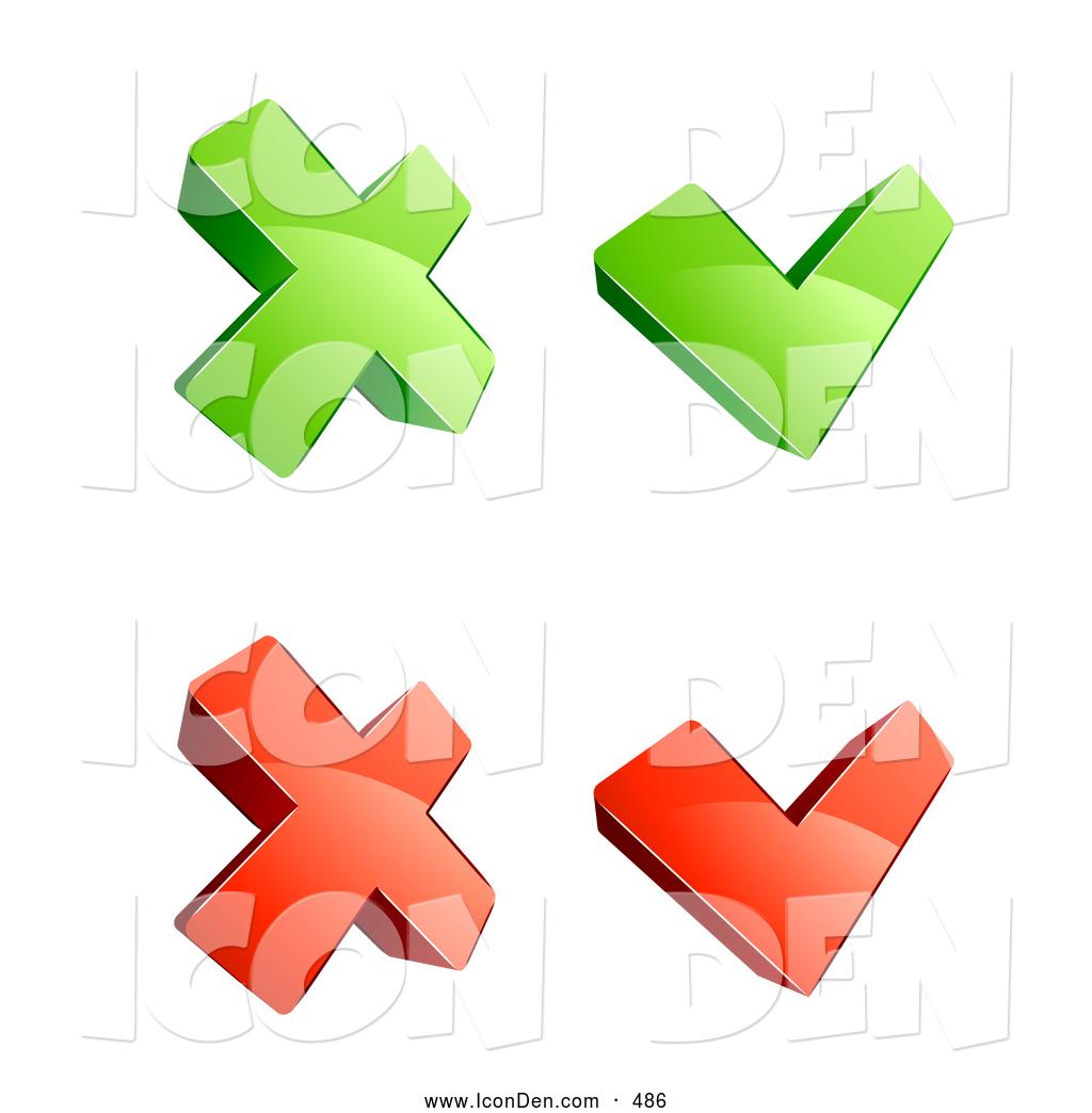 1024x1044 Check Mark And X Clip Art