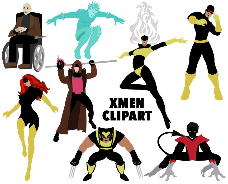 864x698 X Men Clipart, 8 Super Hero Images, Jean Grey, Nightcrawler, Storm