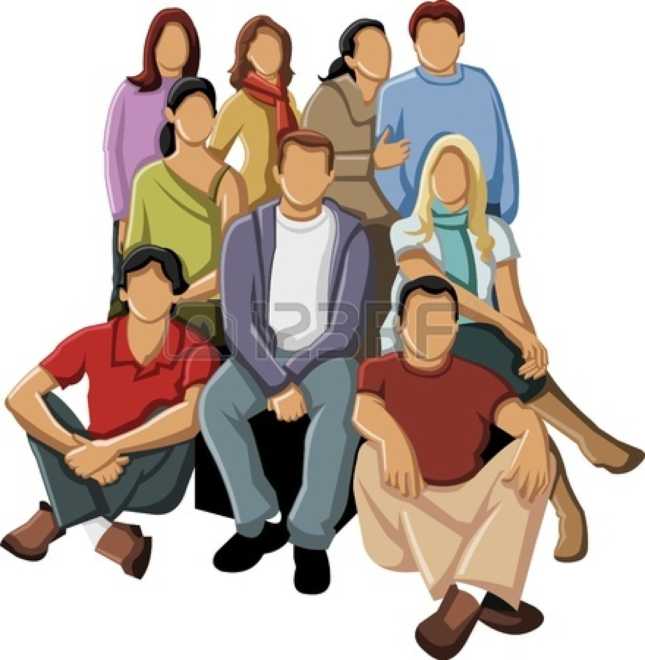 1320x1350 Clip Art People Group