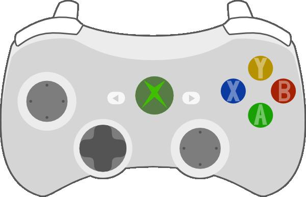 600x387 Xbox Controller Dark Buttons Clip Art