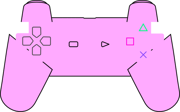 600x373 Controller Clipart Pink
