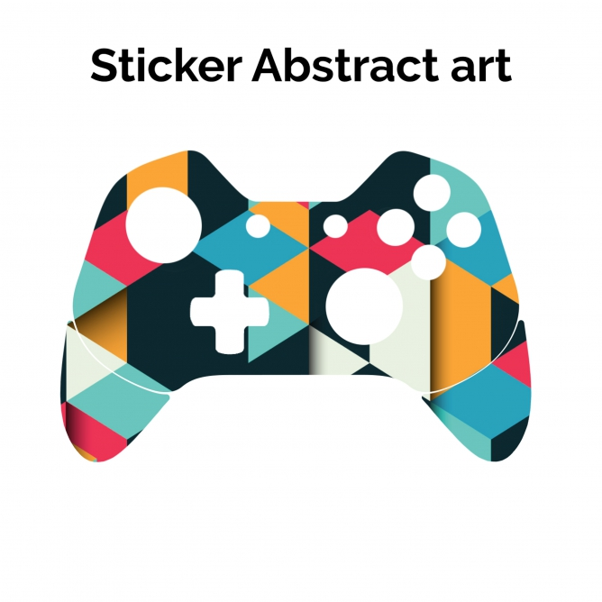 668x668 Sticker Xbox One Controller Abstract Art