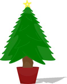 236x292 Potted Christmas Tree In Snow Royalty Free Vector Clip Art