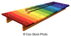 300x155 Colorful Xylophone Illustrations And Clipart. 295 Colorful
