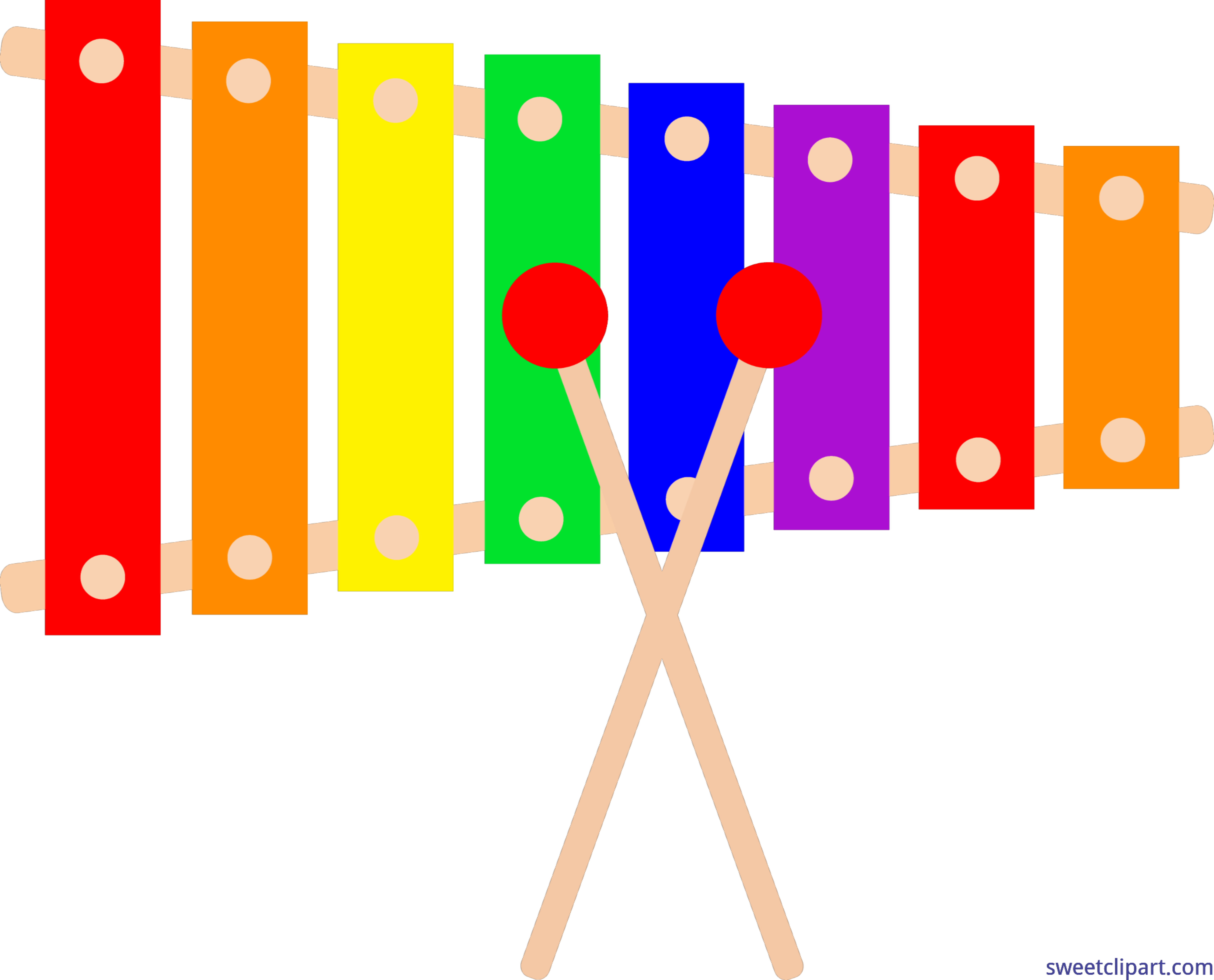 6729x5433 Xylophone Clip Art