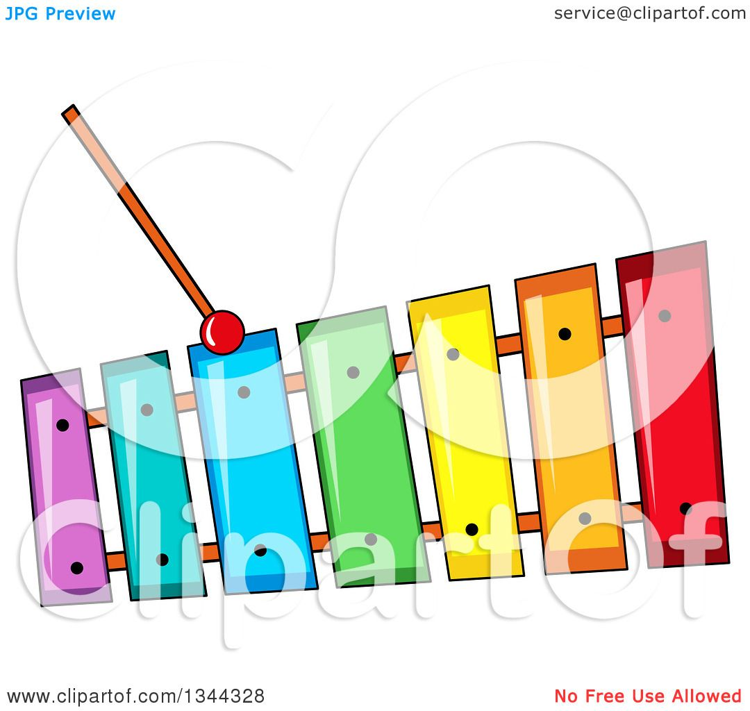 1080x1024 Clipart Of A Cartoon Colorful Xylophone