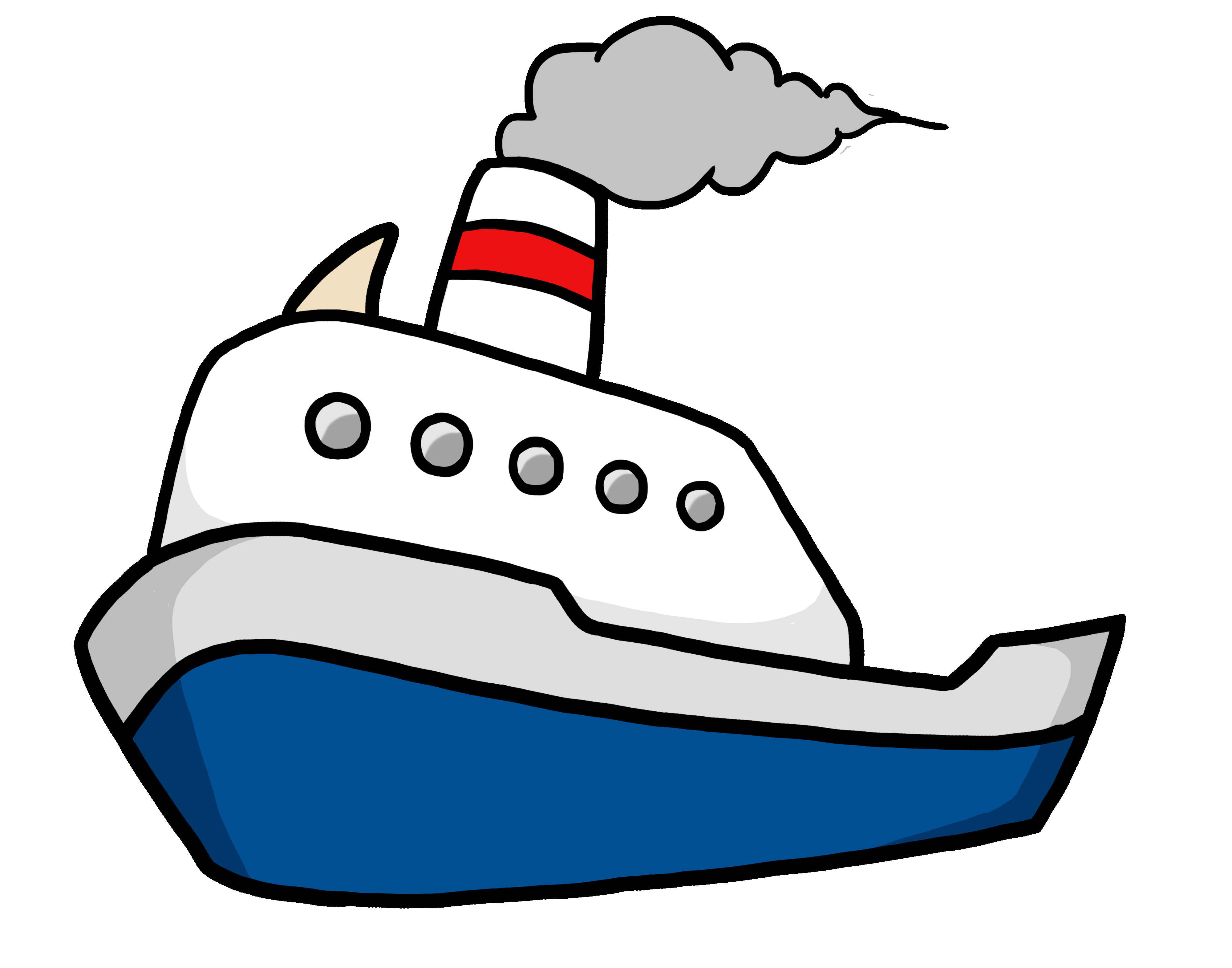 4000x3142 Modern Yacht Flat Icon Motor Boat Side View Royalty Free Vector