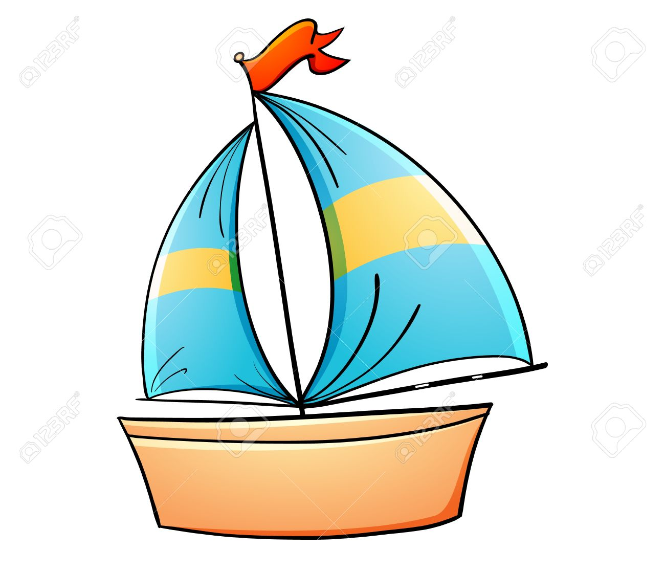 1300x1120 Toy Boat Clipart 13749179 Illustration Of A Toy Yacht