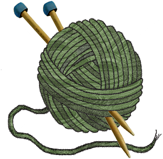 566x550 Granny Knitting Clipart Image