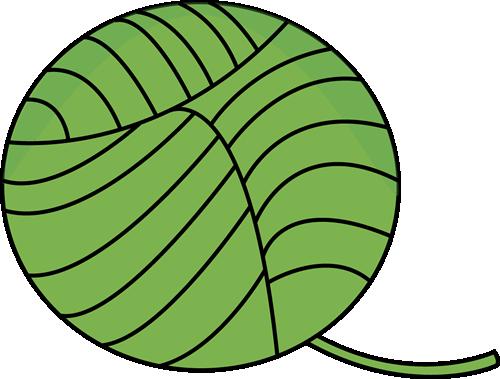 500x379 Green Ball Of Yarn Clip Art