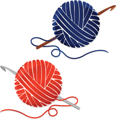 408x420 Collection Of Yarn And Crochet Hook Clipart High Quality