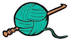 236x142 Love Heart Yarn Ball And Needles Crocheting Knitting Clipart