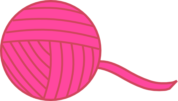600x342 Pink Ball Of Yarn Clip Art Free Vector 4vector