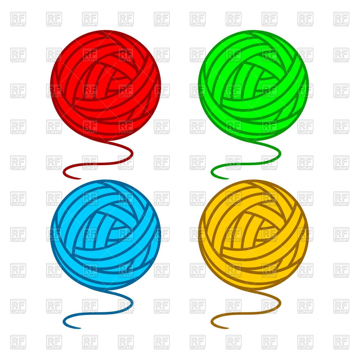 1200x1200 Set Of Balls Of A Yarn Royalty Free Vector Clip Art Image