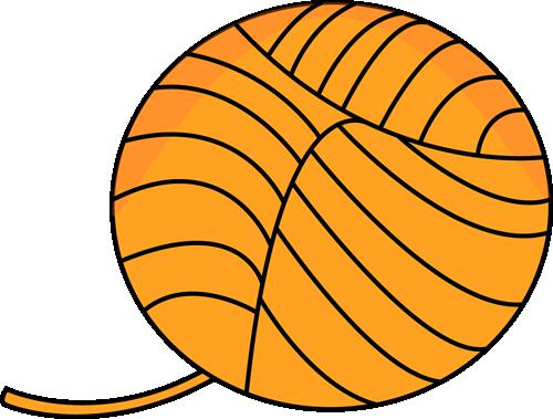 500x379 Yarn Clip Art Orange Ball Of Clipart Panda