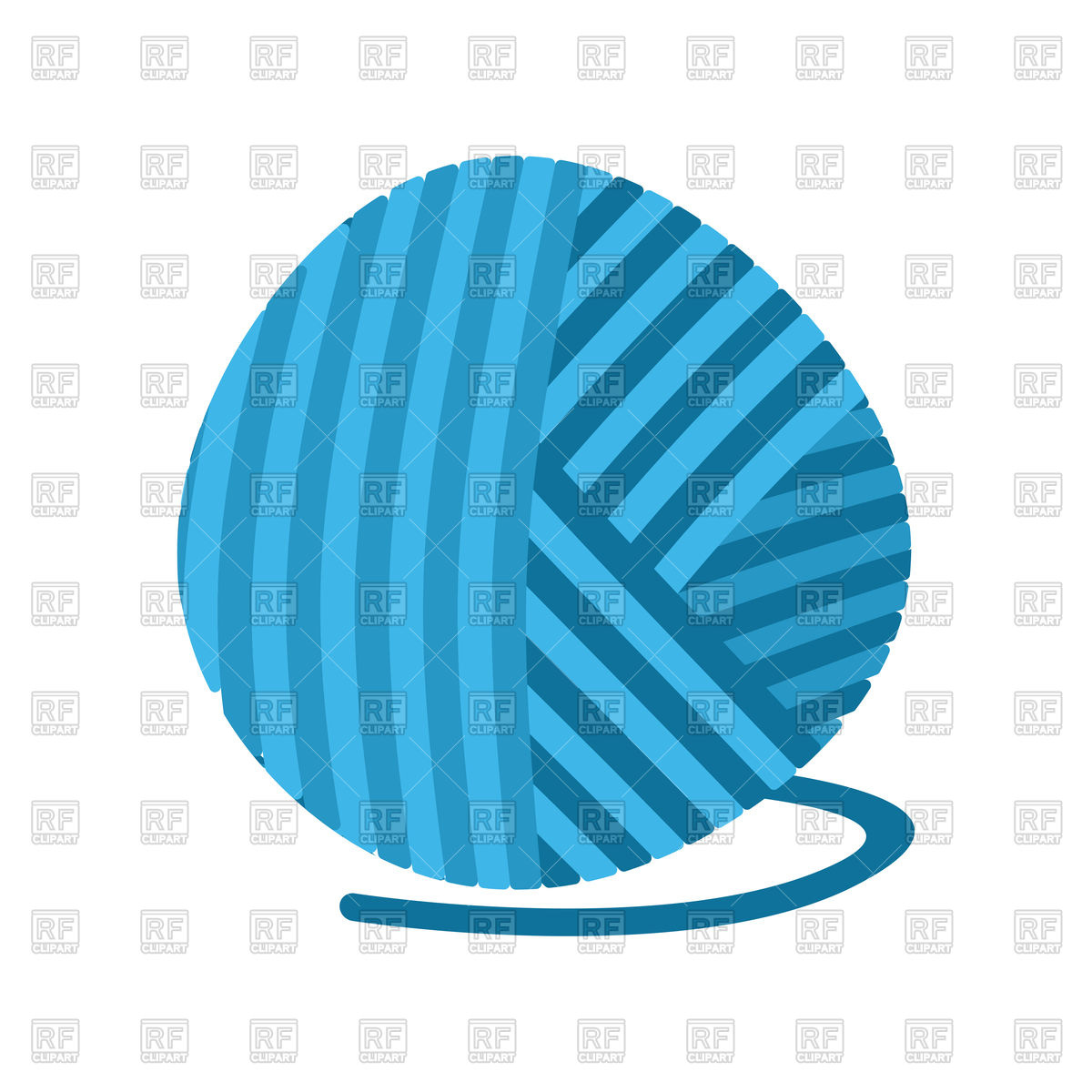 1200x1200 Blue Ball Of Yarn Royalty Free Vector Clip Art Image
