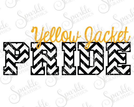 570x456 Yellow Jacket Pride Cut File Yellow Jacket Mascot High School