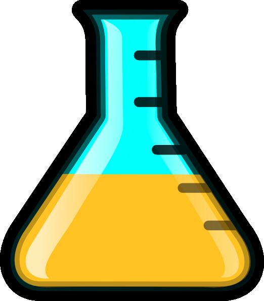 522x596 Yellow Flask Clip Art