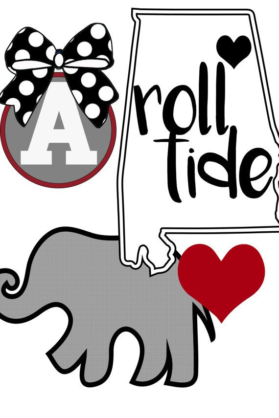 570x855 Roll Tide Svg, Alabama Clipart, Bama Svg Roll Tide Yeti Decal