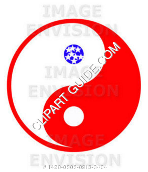 301x350 American Ying Yang Clipart Graphic
