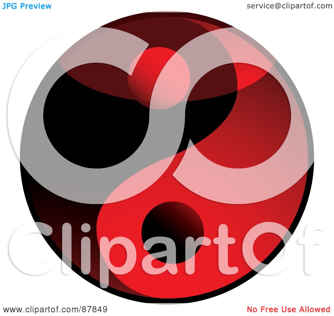 1080x1024 Royalty Free (Rf) Clipart Illustration Of A Shiny Red And Black 3d