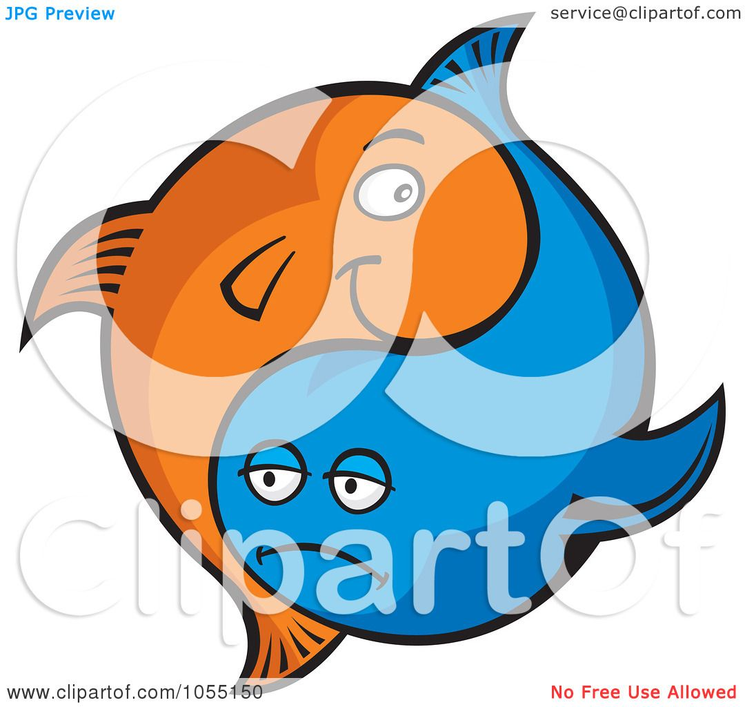 1080x1024 Royalty Free Vector Clip Art Illustration Of Blue And Orange Yin