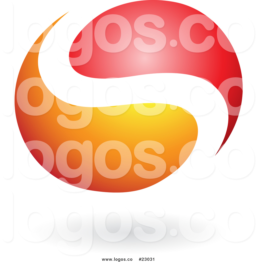 1024x1044 Vector Logo Of A Letter S Yin Yang In Red And Orange By Cidepix
