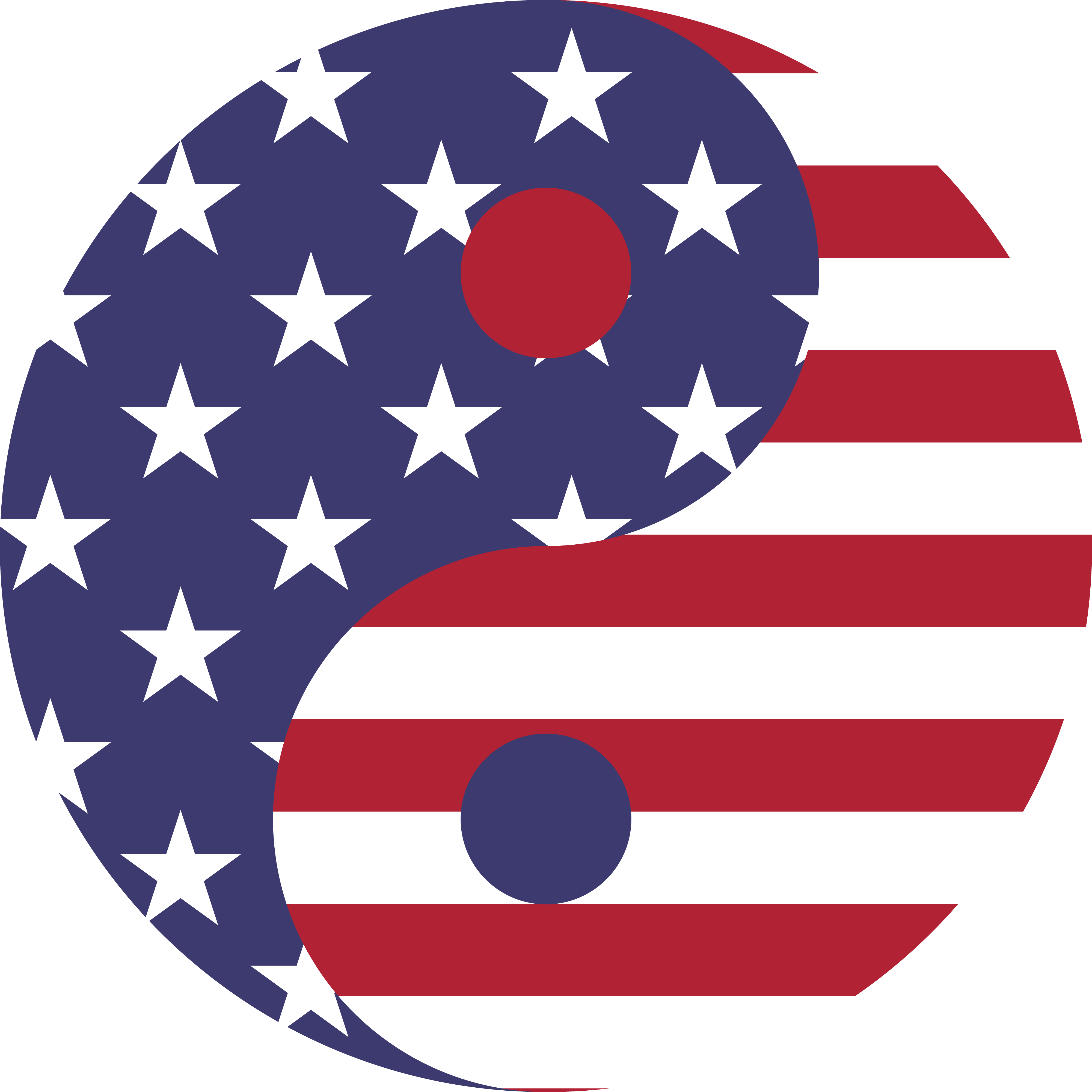 4000x4000 Free Clipart Of A Fourth Of July American Yin Yang