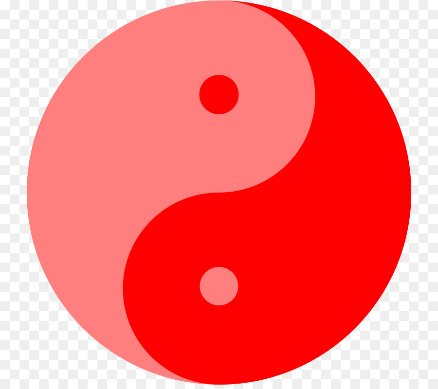 900x800 Red Yin And Yang Clip Art
