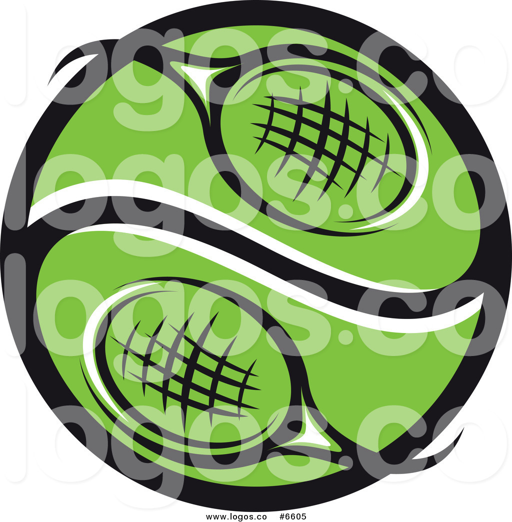1024x1044 Royalty Free Clip Art Vector Logo Of A Green Tennis Racket Yin