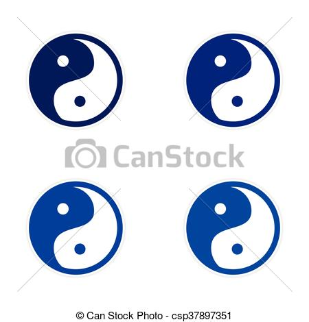 450x470 Assembly Sticker Yin Yang Clipart Vector