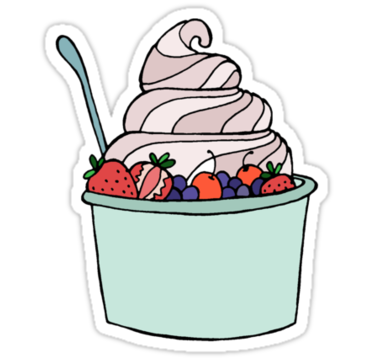 375x360 Frozen Yogurt Clip Art Frozen Yogurt Stickers Liana Spiro