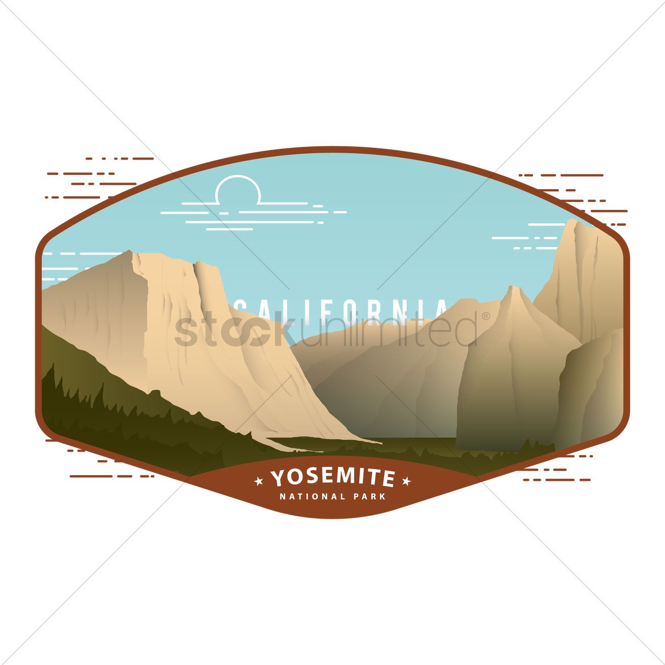 1300x1300 Yosemite National Park Vector Image
