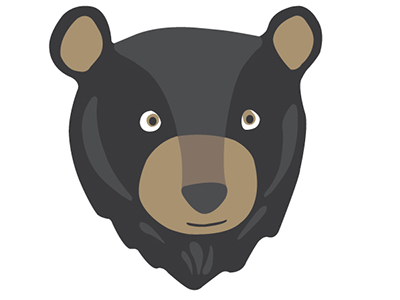400x300 Black Bear Clipart Yosemite
