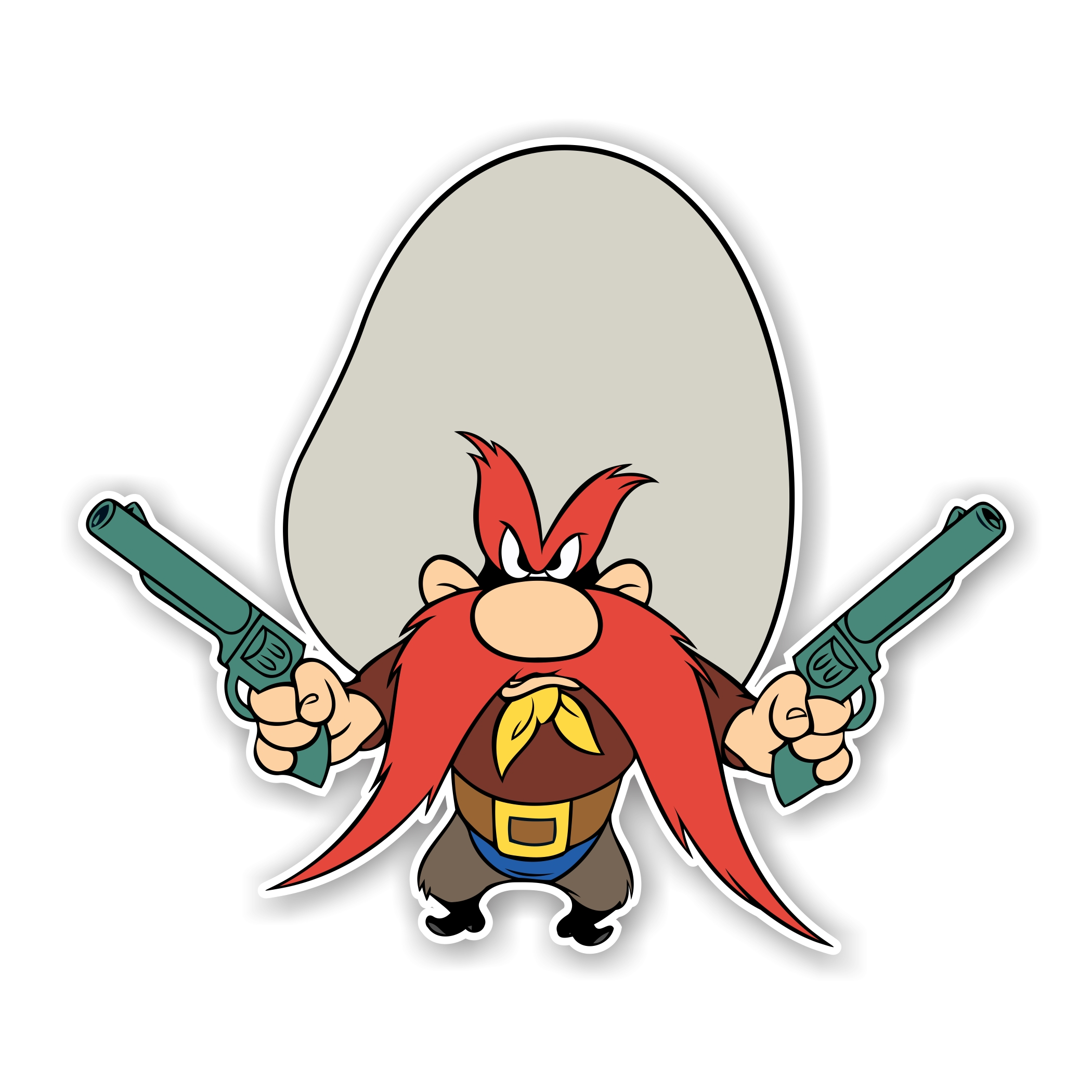 2100x2100 Yosemite Sam Die Cut Decal