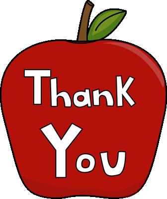336x400 Teacher Apple Clipart Images Of Thank You Clip Art Thank You Apple