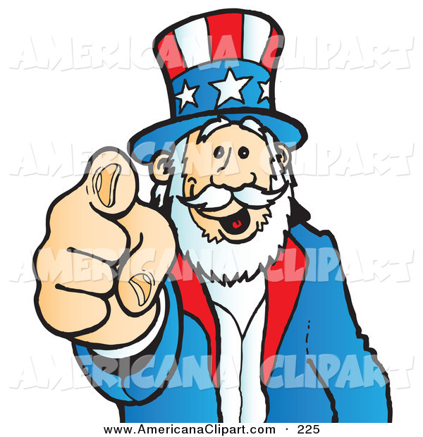 600x620 Americana Clip Art Of A Uncle Sam Grinning And Pointing Outwards