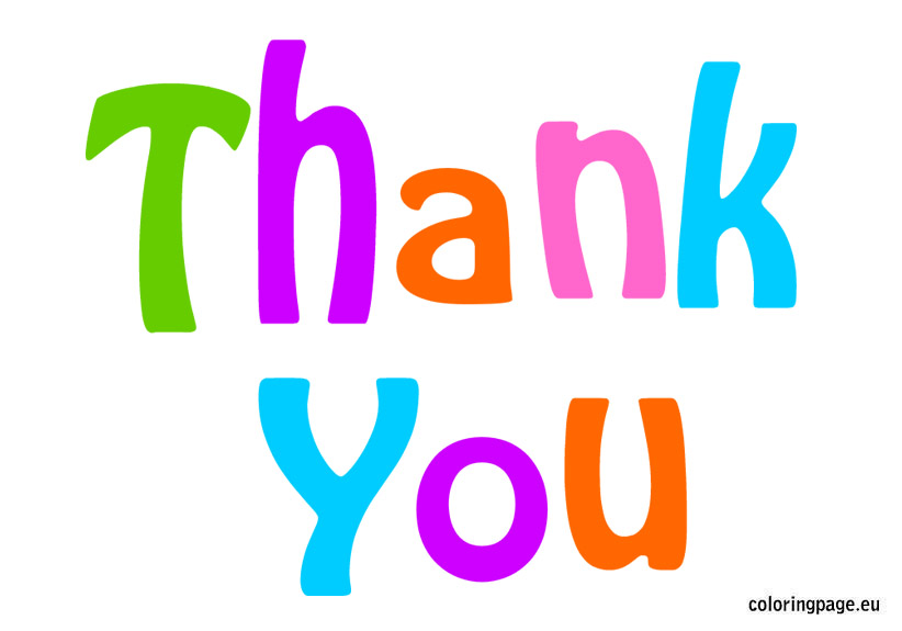 822x575 Thank You Color Clipart